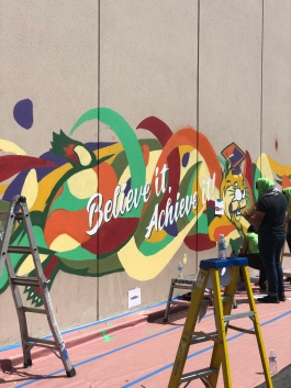 The mural we worked on