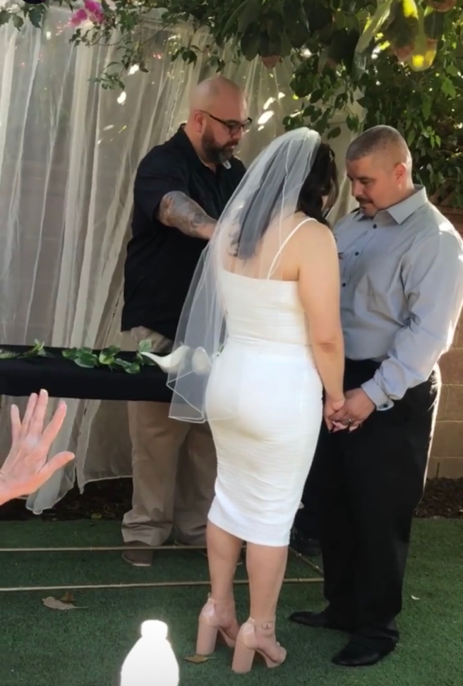 Rev. Rudy Rubio marrying Ricky & Kristina Camacho