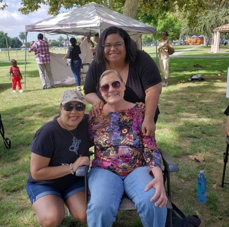 Our sisters Cat Moreno, Christine Hilton, and Melissa Hendrix at this year's Unity Service
