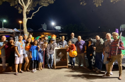 RCLA helped start this Trunk Or Treat in the city of Lynwood just a couple of years ago and its grown.