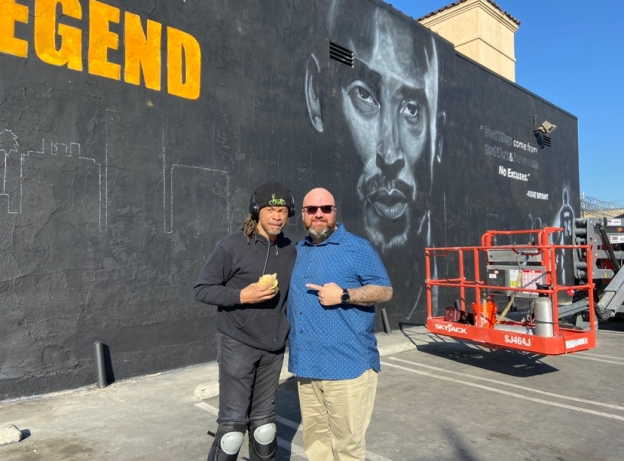 RCLA partnered with our friends of East Side Riders Club and Peque Brown for this amazing Kobe mural in Watts.